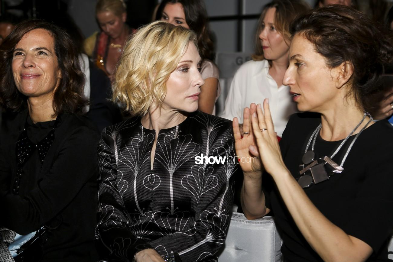 Cate Blanchett hollywood Actress at Giorgio Armani Prive Haute Couture Paris Fashion Show July 2016