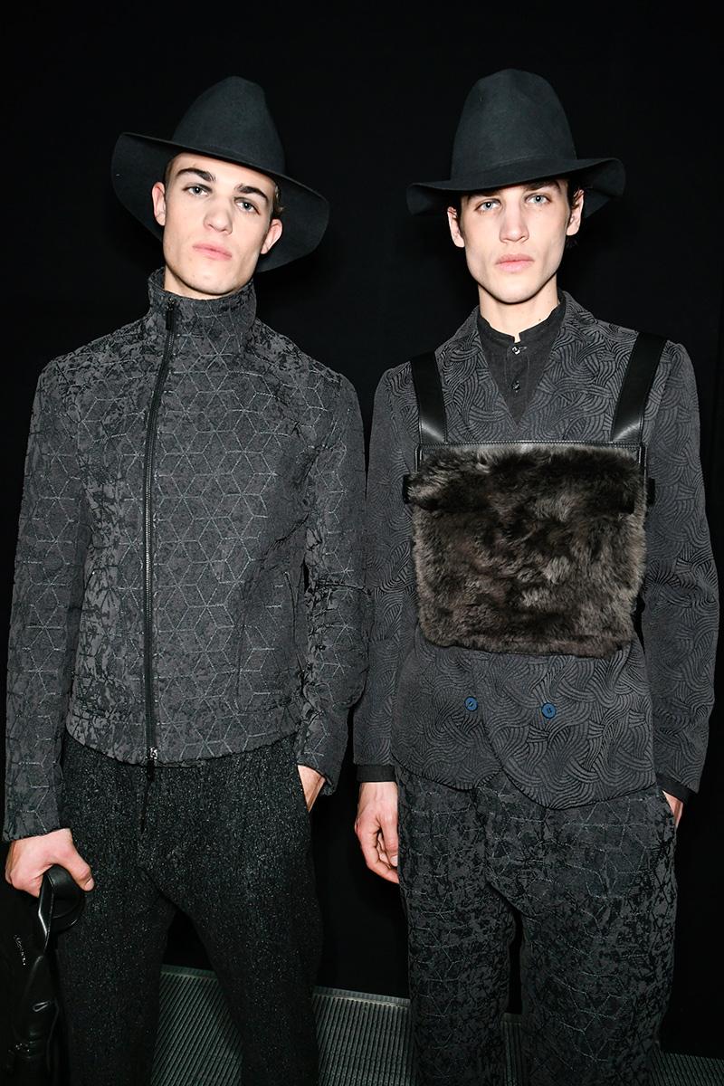 Emporio Armani Backstage Fall 17 Milan Men's Fashion Week