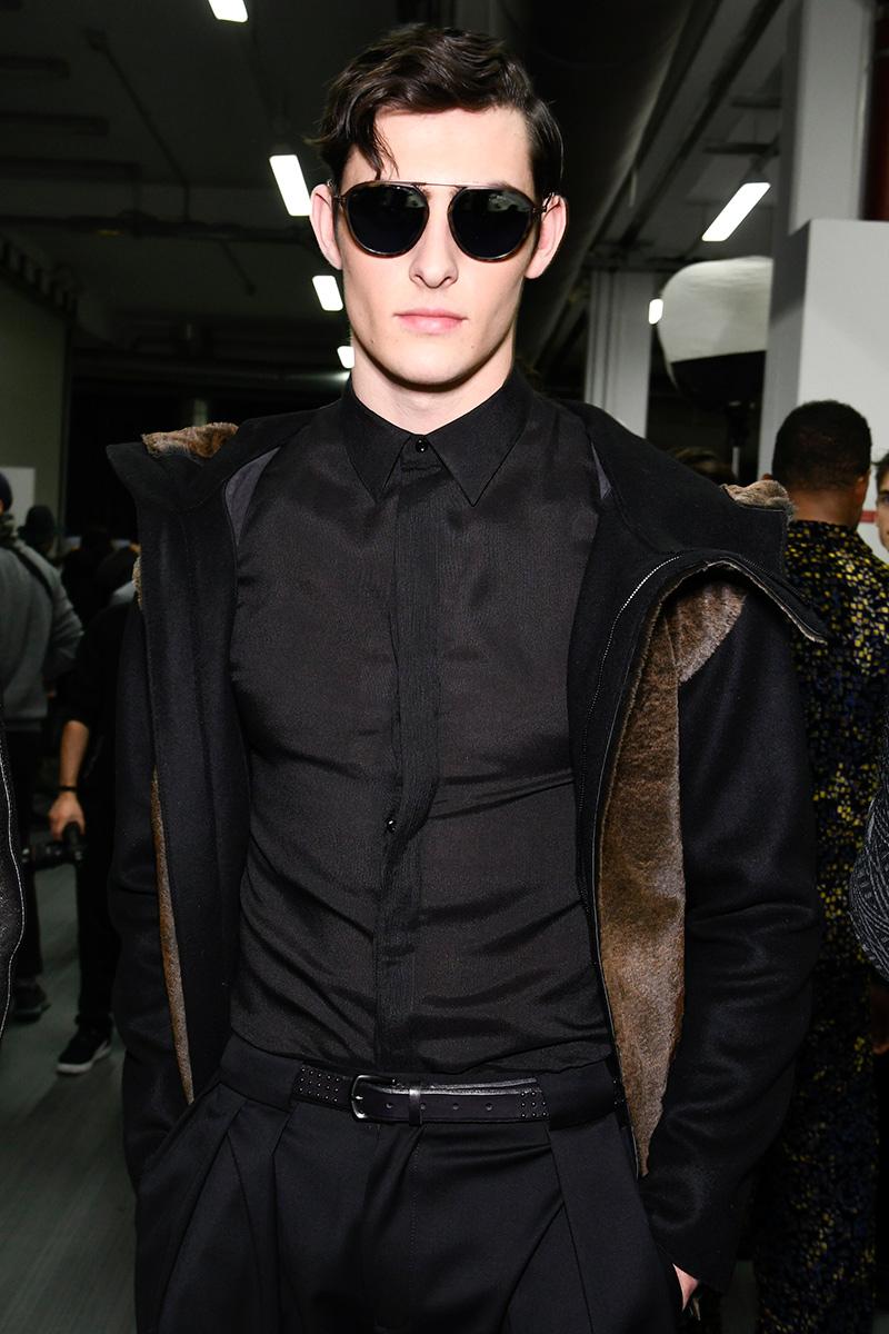 Backstage Emporio Armani Fall 17 Milan Men's Fashion Week