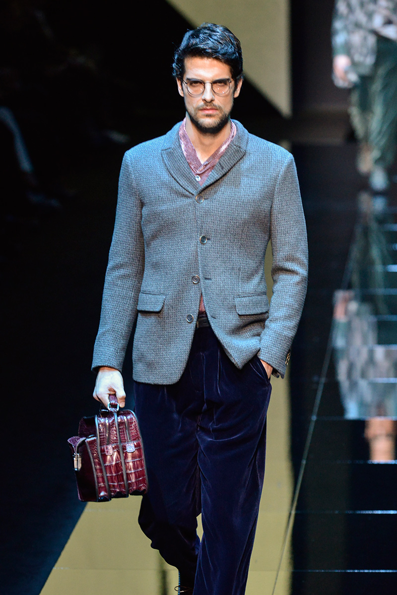 Giorgio Armani Milan Men's Fashion Week Fall 2017
