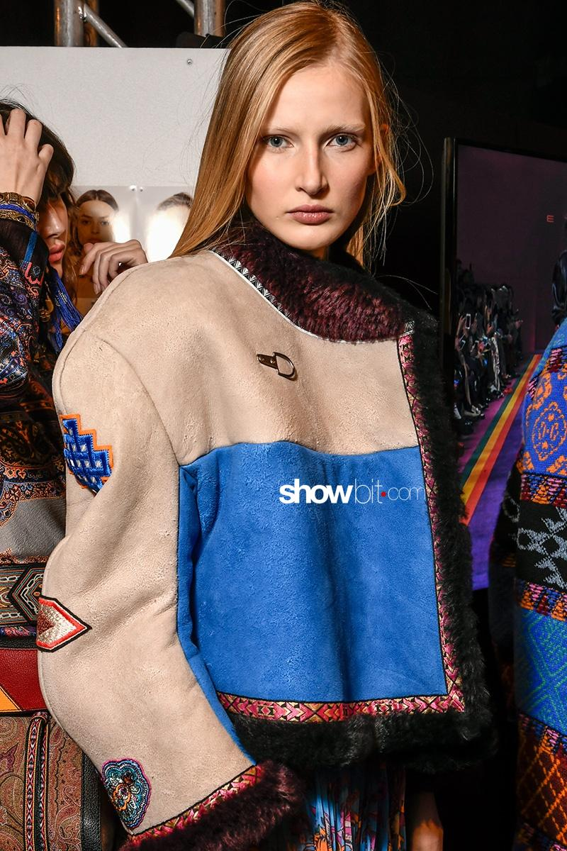 Etro FW17 Milan Fashion Week Backstage