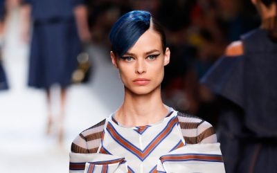 Milan Fashion Week Spring Summer 2018: Blue Fendi