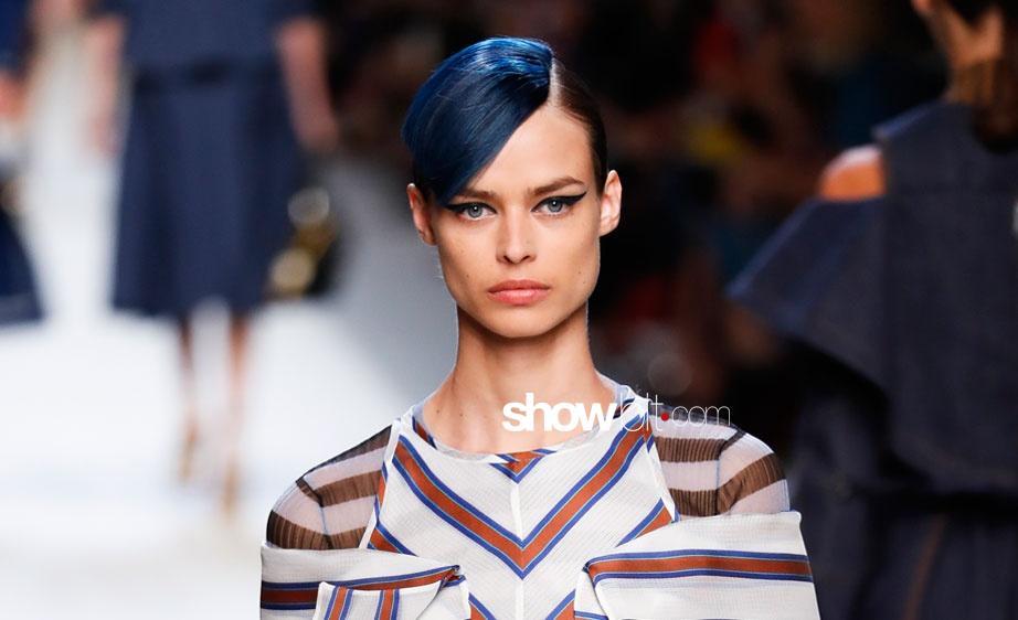 Milan Fashion Week Spring Summer 2018: Blue Fendi