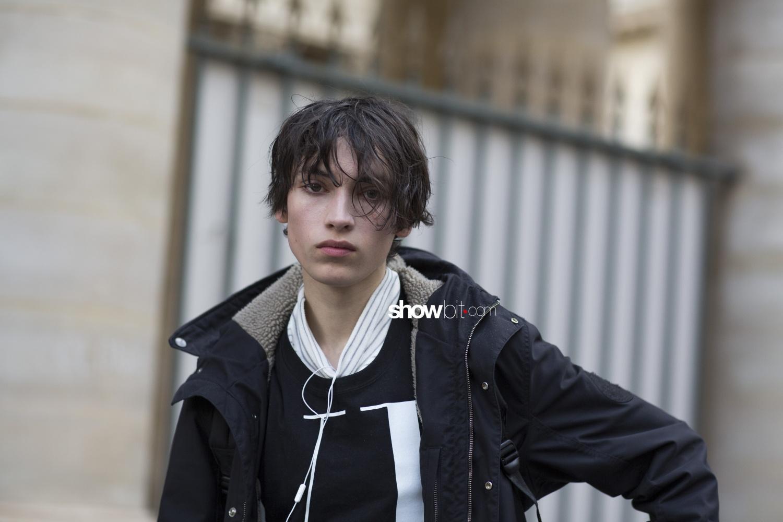 Ann Demeulemeester man fall 2018 paris street style