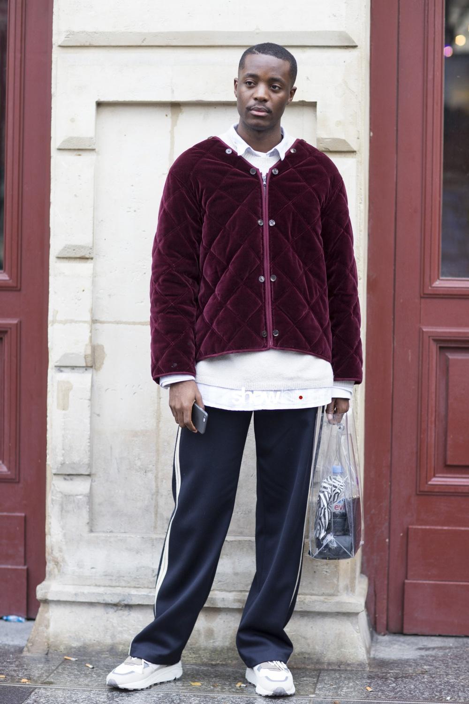 Issey Miyake Men fall 2018 man paris street style