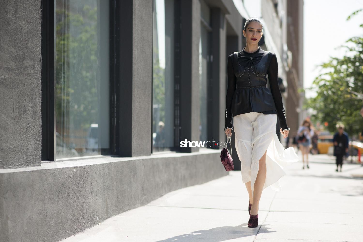 3.1 Phillip Lim people street style Woman Spring Summer 2018 New York