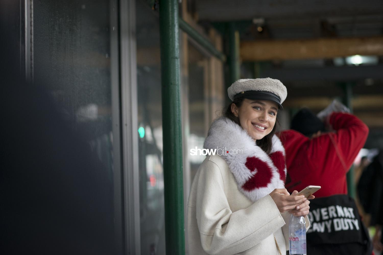 Christian Cowan people street style Women Fall Winter 2018 New York