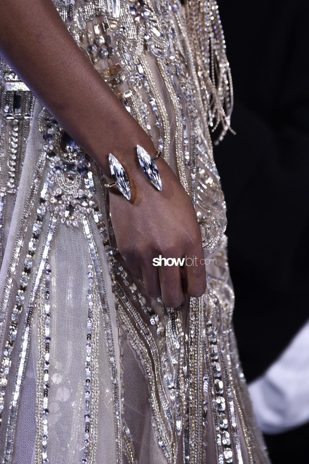 Elie Saab jewellery close-up Haute Couture Spring Summer 2018 Paris