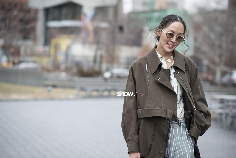 Jason Wu people street style Women Fall Winter 2018 New York