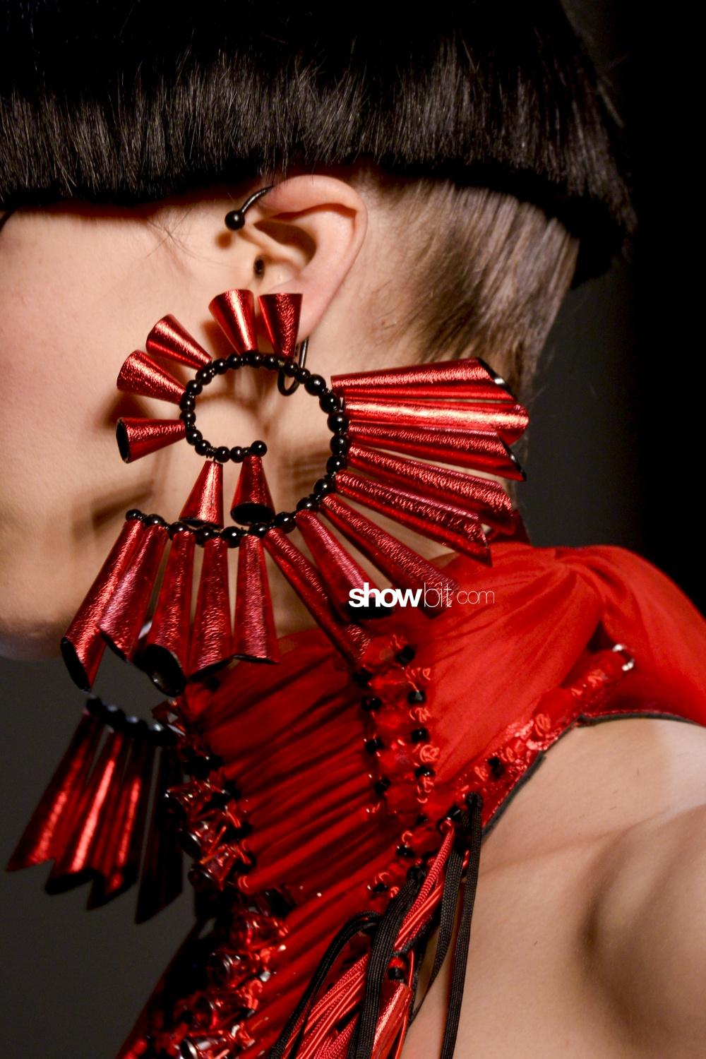 Jean Paul Gaultier jewellery close-up Haute Couture Spring Summer 2018 Paris