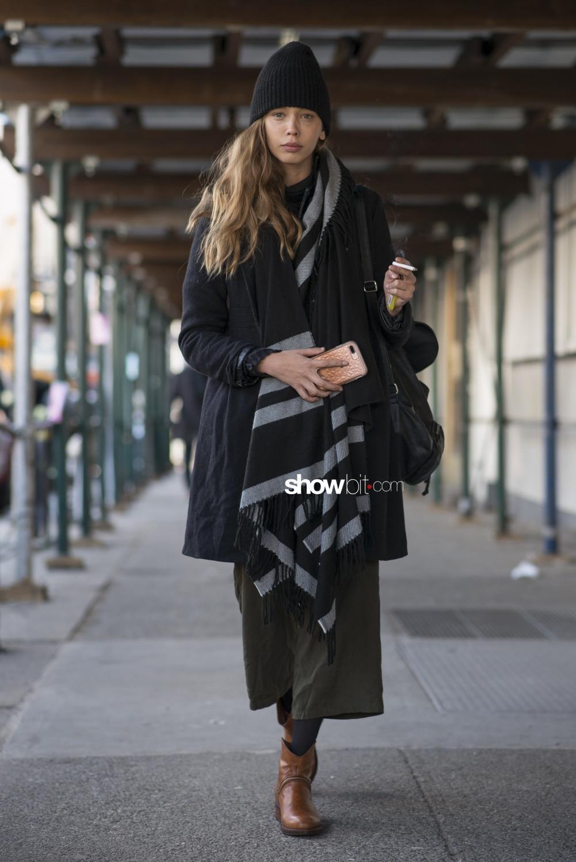 Noon by Noor people street style Women Fall Winter 2018 New York
