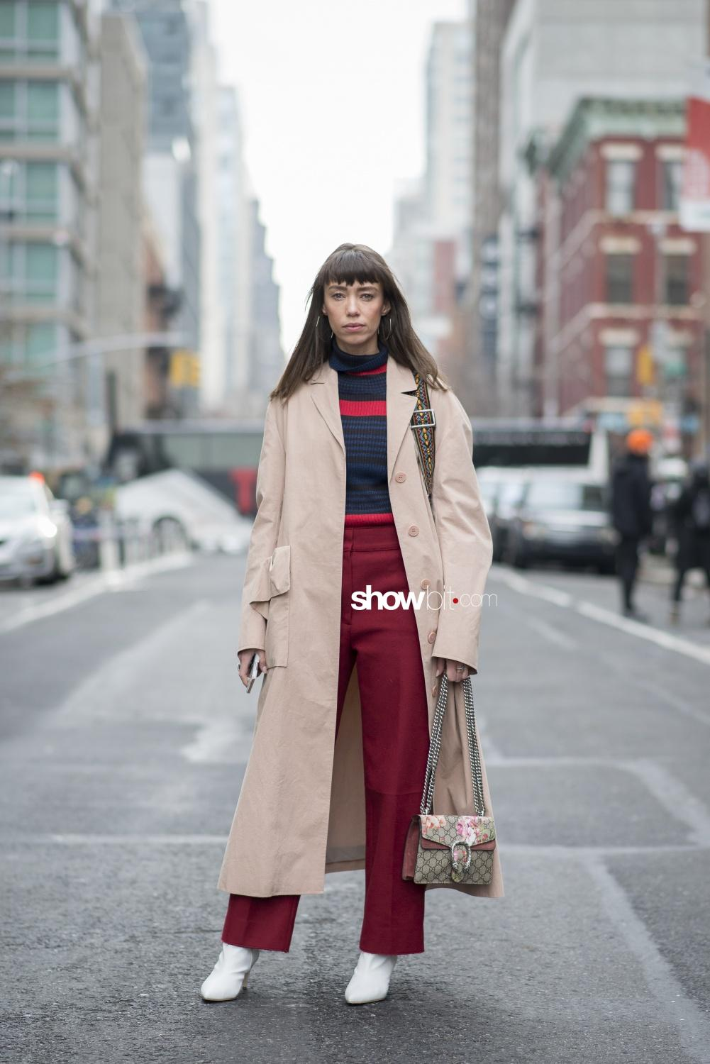 Self Portrait people street style Women Fall Winter 2018 New York