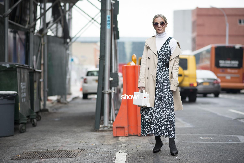 Self Portrait people street style Women Fall Winter 2018 New York