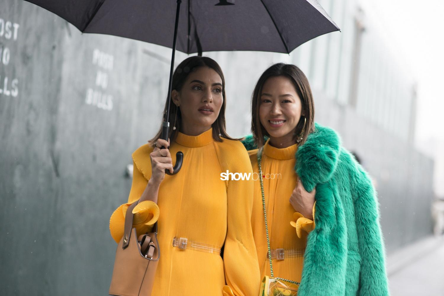 Tibi people street style Women Fall Winter 2018 New York