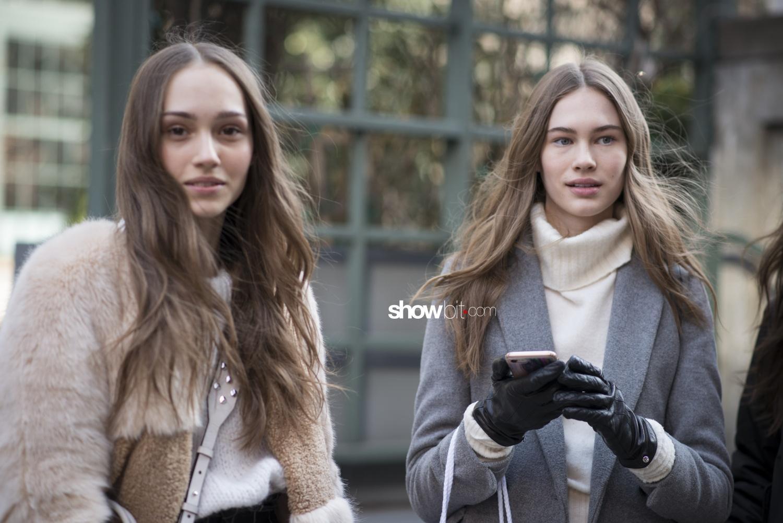 Tory Burch people street style Women Fall Winter 2018 New York
