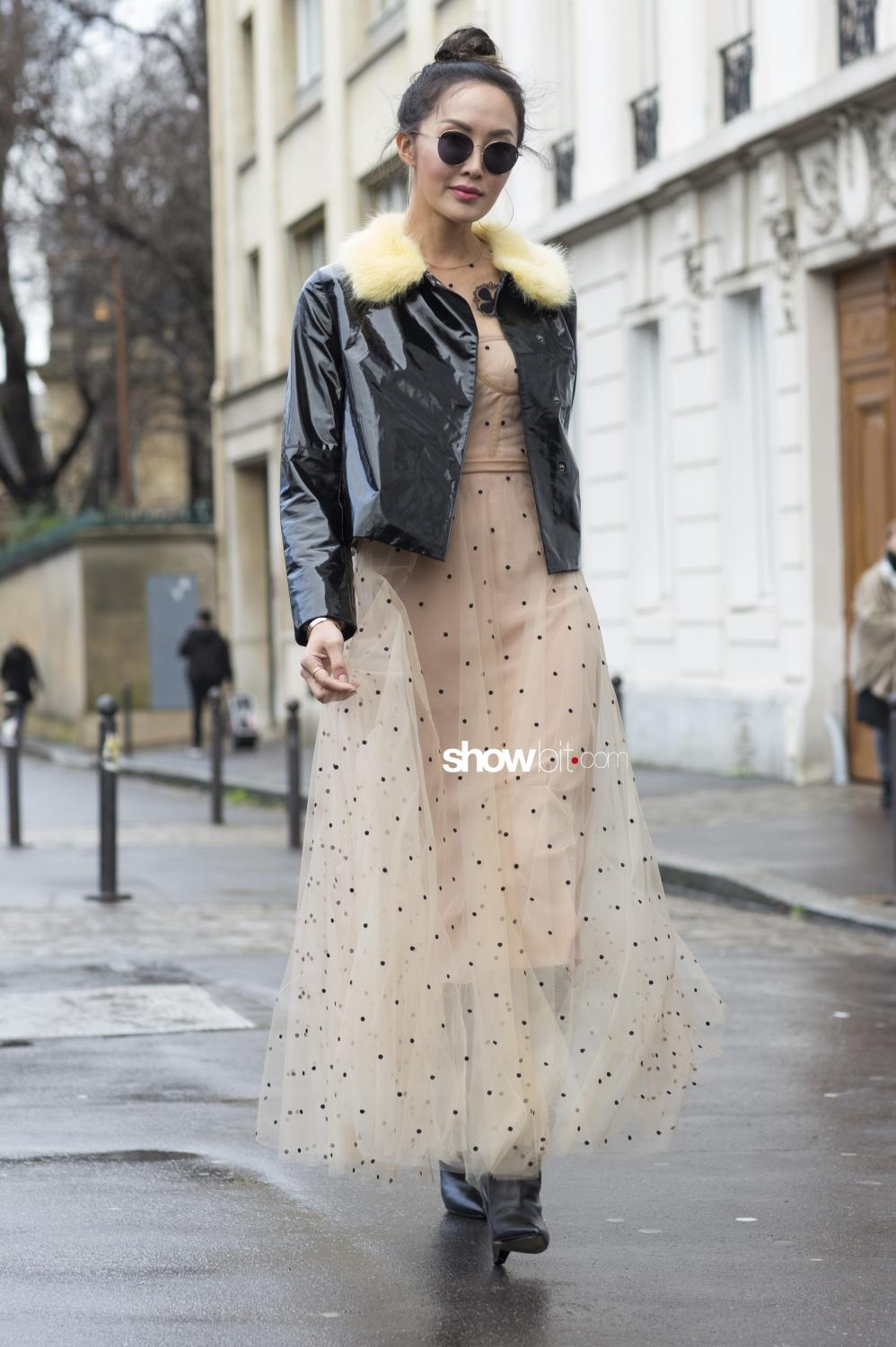 Christian Dior people street style Haute Couture Spring Summer 2018 Paris