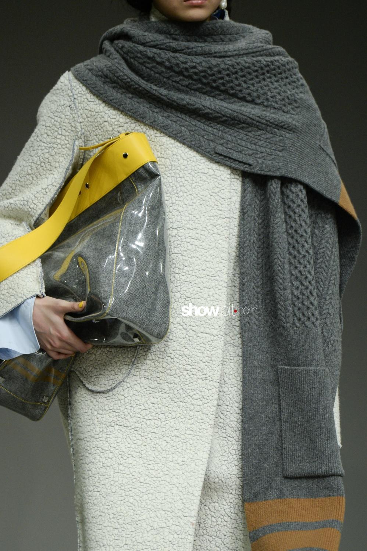 Eudon Choi close-up knitwear Woman Fall Winter 2018 London
