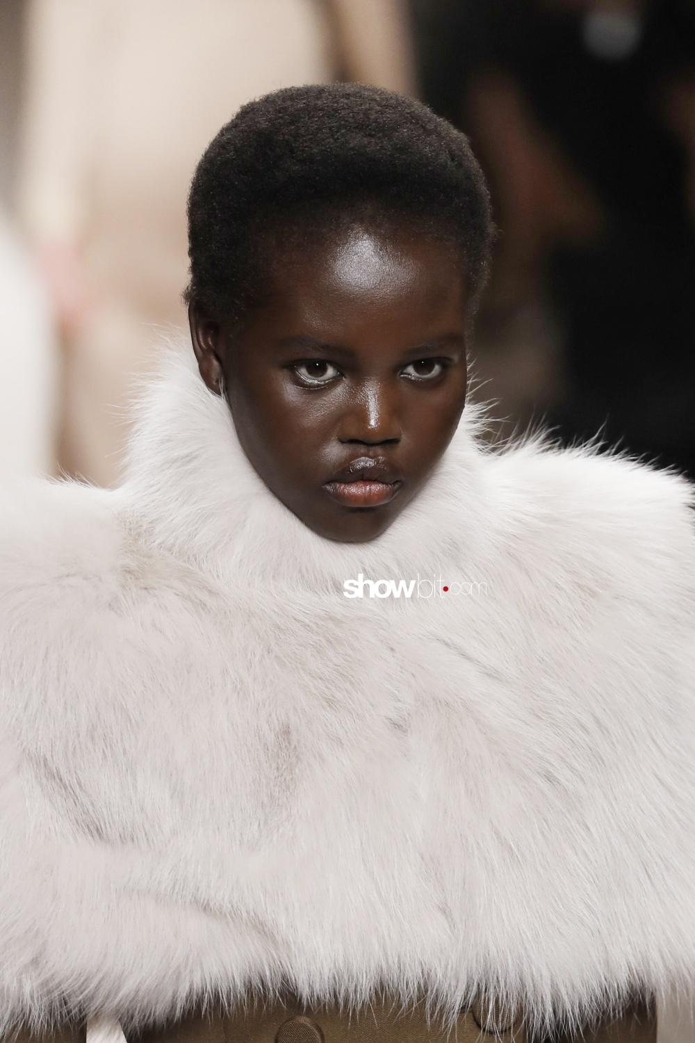 Fendi beauty runway Fall Winter 2018 Milano Adut Akech