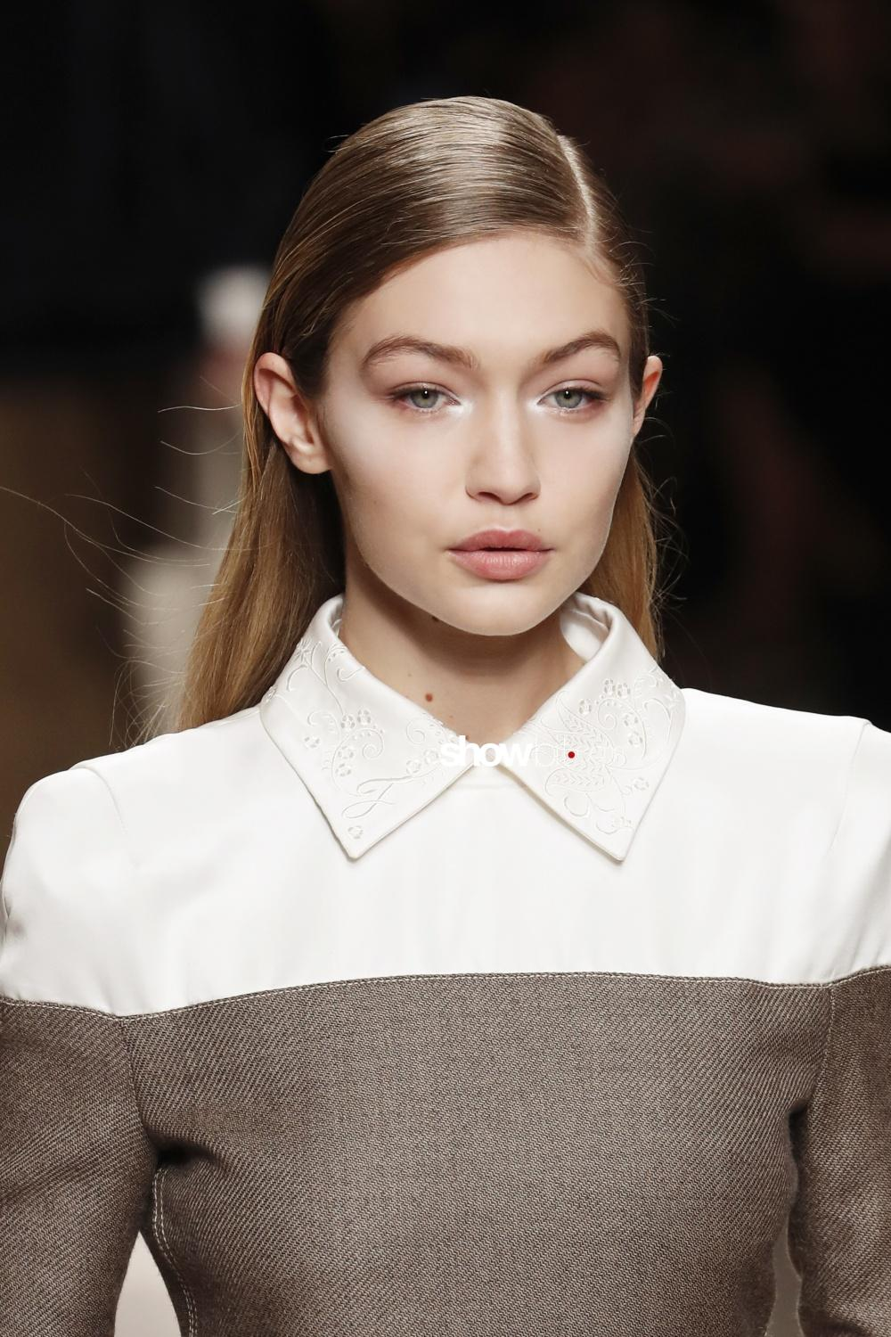 Fendi beauty runway Fall Winter 2018 Milano Gigi Hadid