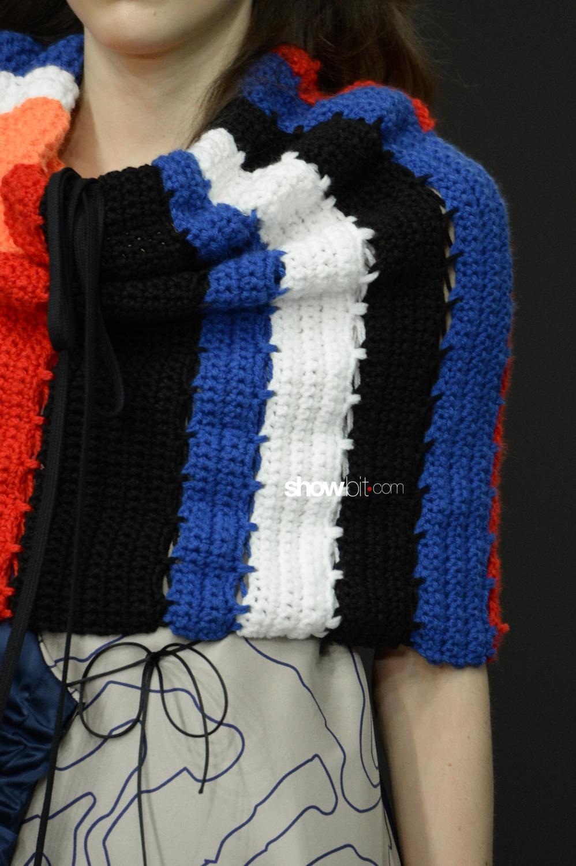 Fyodor Golan close-up knitwear Woman Fall Winter 2018 London