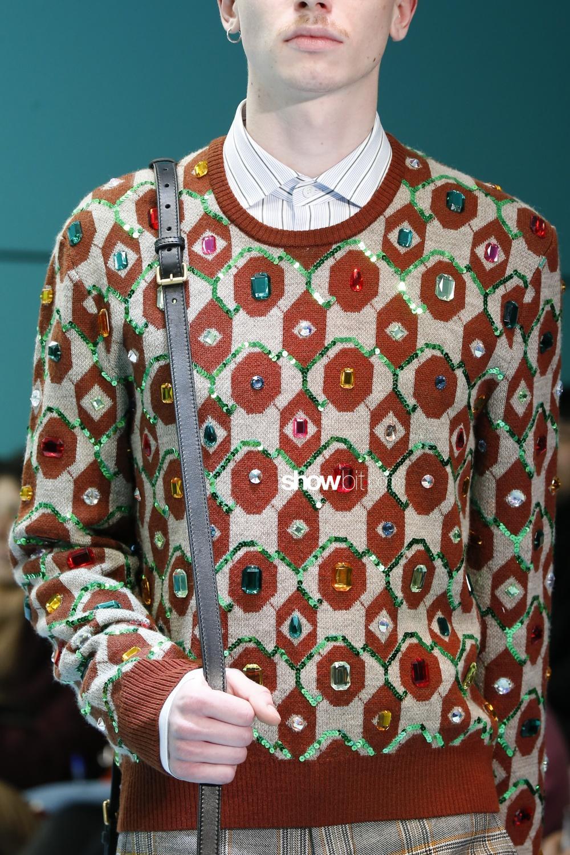Gucci close-up knitwear Man Woman Fall Winter 2018 Milano