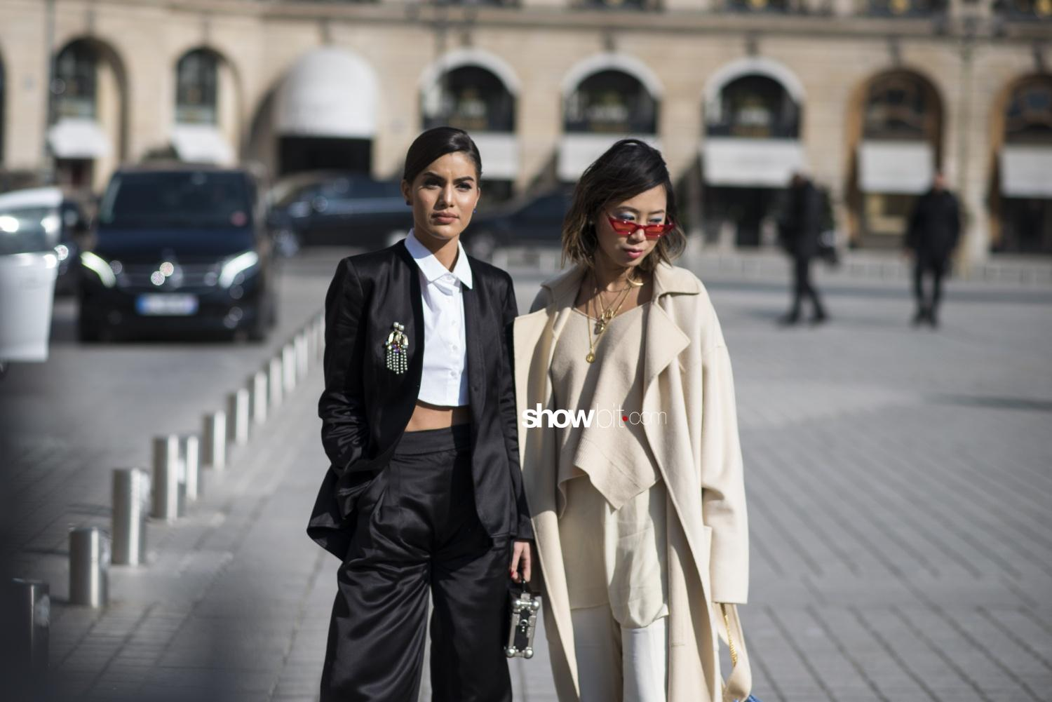 Lanvin people street style Woman Fall Winter 2018 Paris