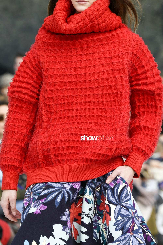 Leonard Paris close-up knitwear Woman Fall Winter 2018 Paris