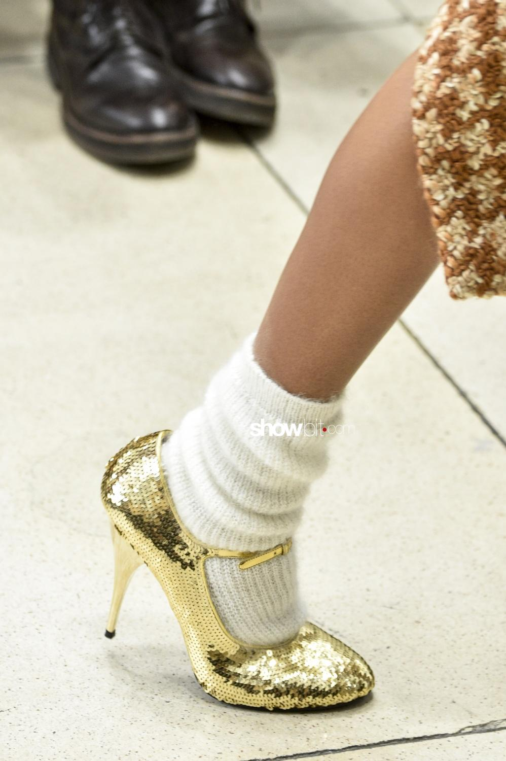 Miu Miu close-up shoes Woman Fall Winter 2018 Paris