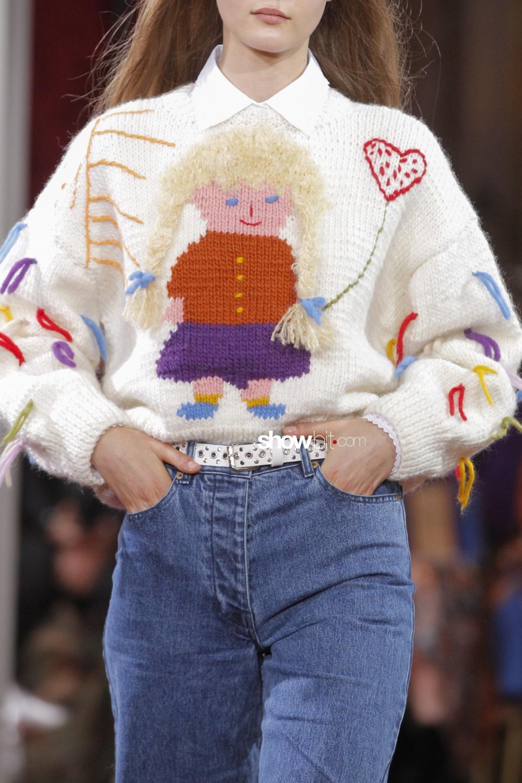 Paul&Joe close-up knitwear Woman Fall Winter 2018 Paris