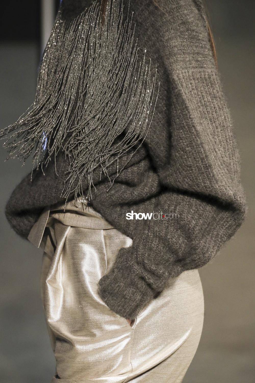 Sally Lapointe close-up knitwear Woman Fall Winter 2018 New York