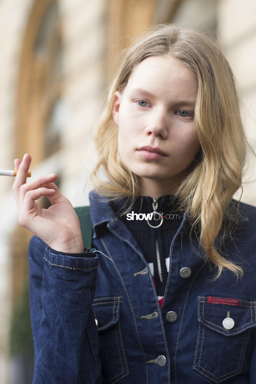 Schiaparelli people street style Haute Couture Spring Summer 2018 Paris
