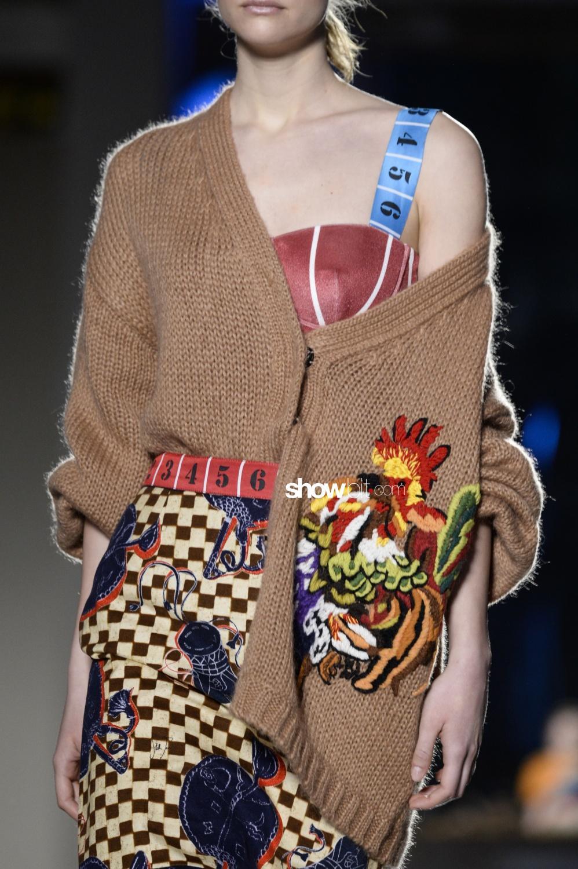 Stella Jean close-up knitwear Woman Fall Winter 2018 Milano