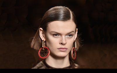 Fendi Fall 2018 makeup: a Touch of White