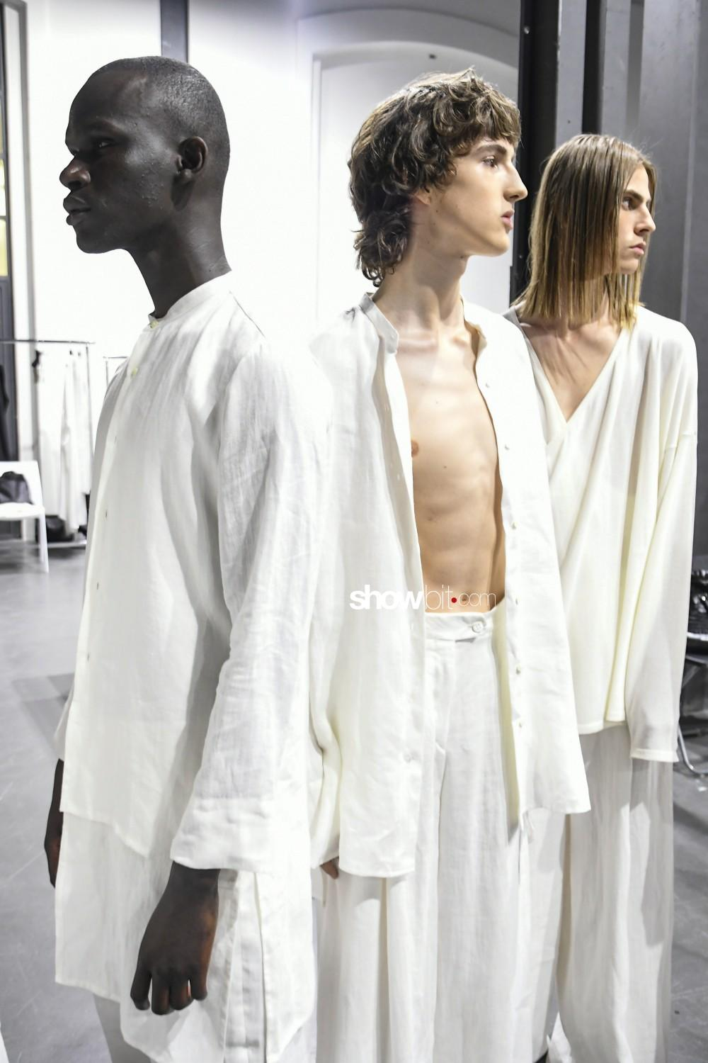 Sartorial Monk backstage Woman Man Spring Summer 2019 Milan