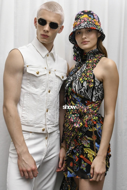 Versace backstage Man Spring Summer 2019 Milan