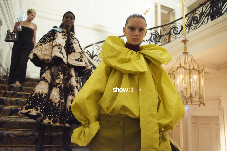Valentino backstage Haute Couture Fall Winter 2018 Paris