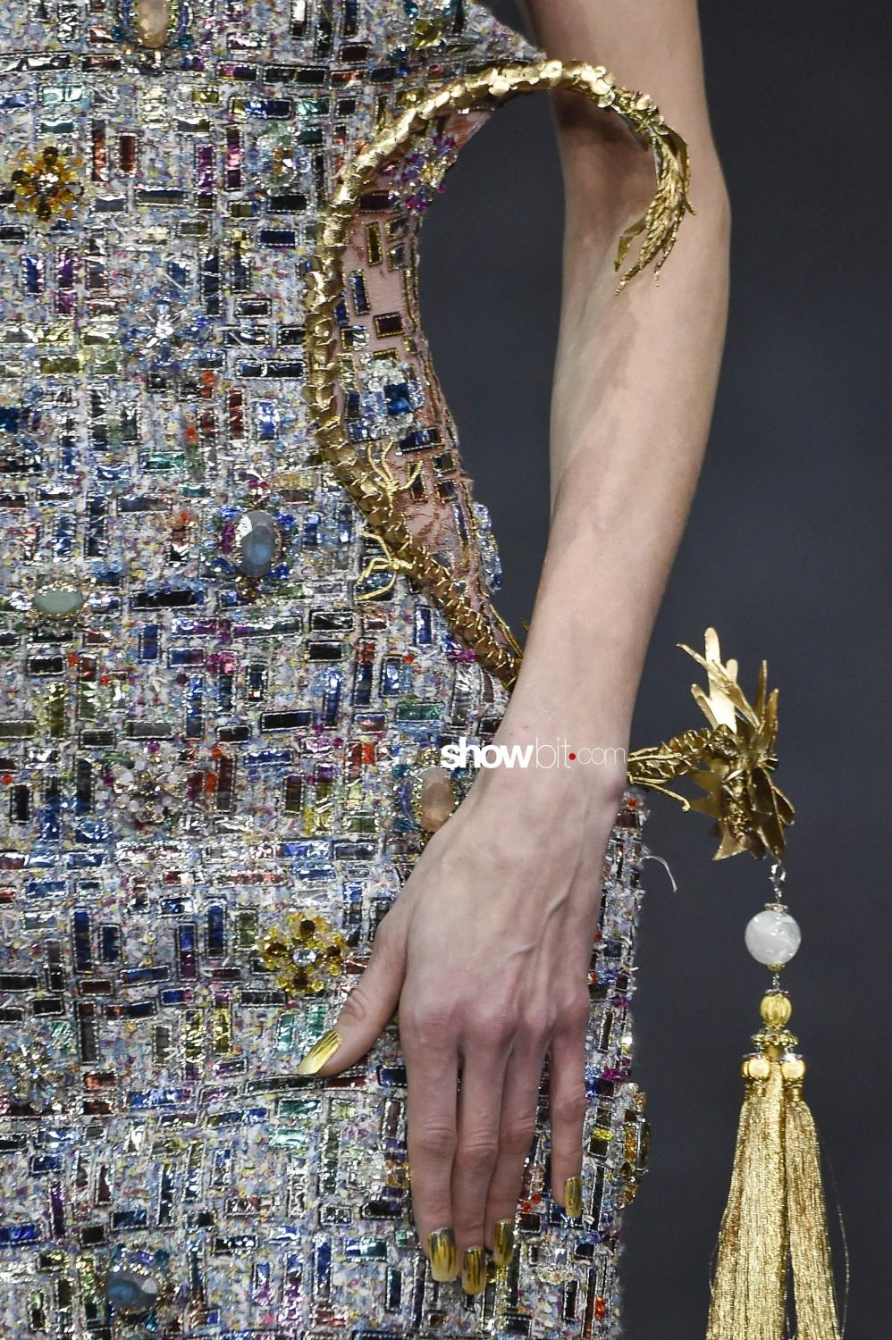 Guo Pei close-up Haute Couture Spring Summer 2019 Paris