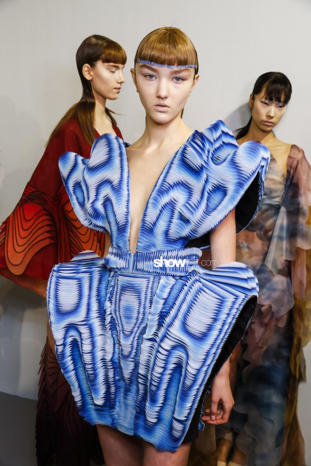 Iris Van Herpen backstage Haute Couture Spring Summer 2019 Paris
