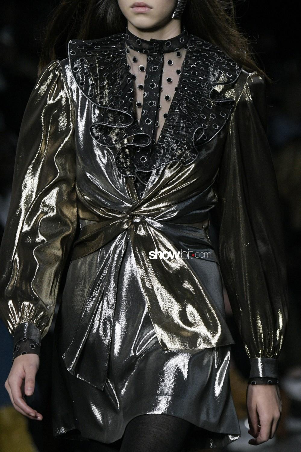 Alberta Ferretti close-up Women Fall Winter 2019 Milano