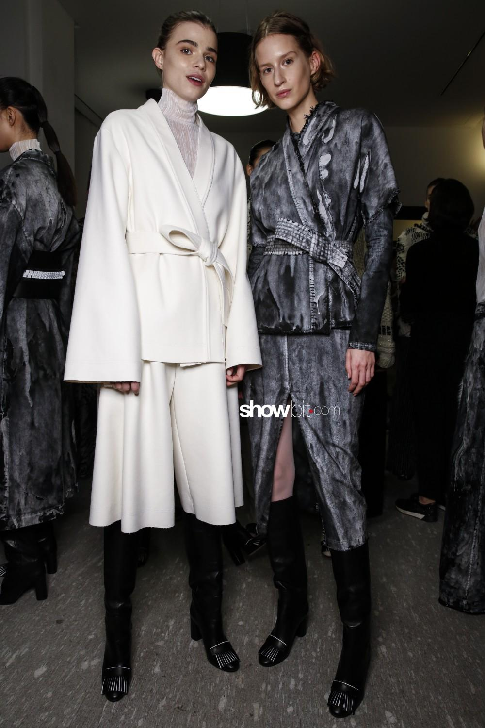 Cristiano Burani backstage Women Fall Winter 2019 2020 Milano
