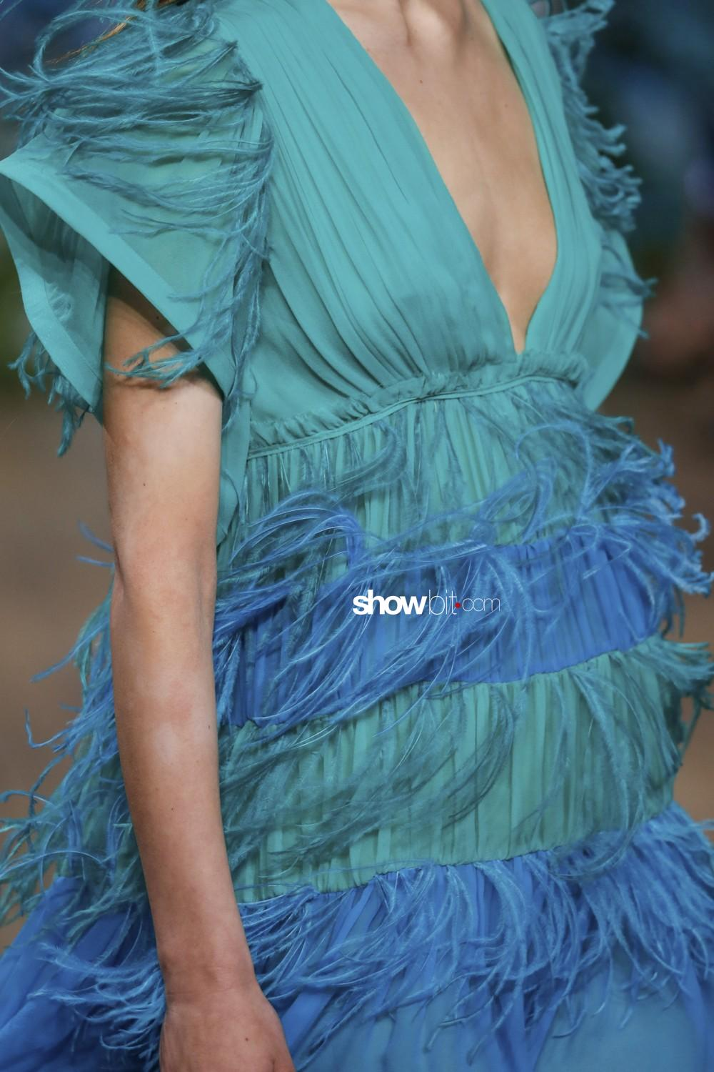 Alberta Ferretti close-up Women Resort 2020 Montecarlo