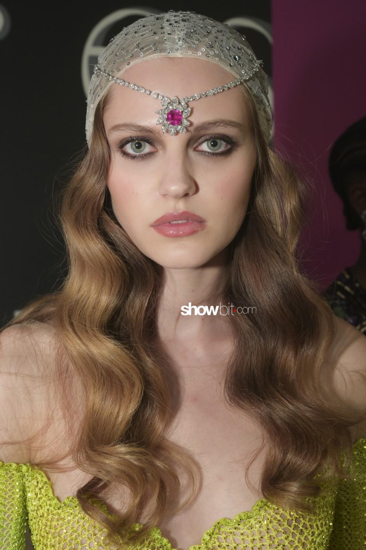 Ulyana Sergeenko beauty backstage Haute Couture Fall Winter 2019 2020 Paris