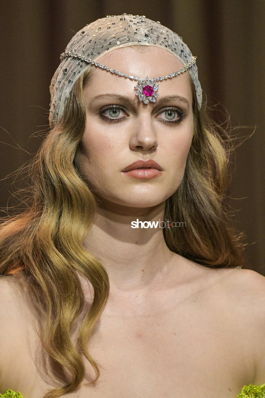 Ulyana Sergeenko close-up Haute Couture Fall Winter 2019 Paris Accessories