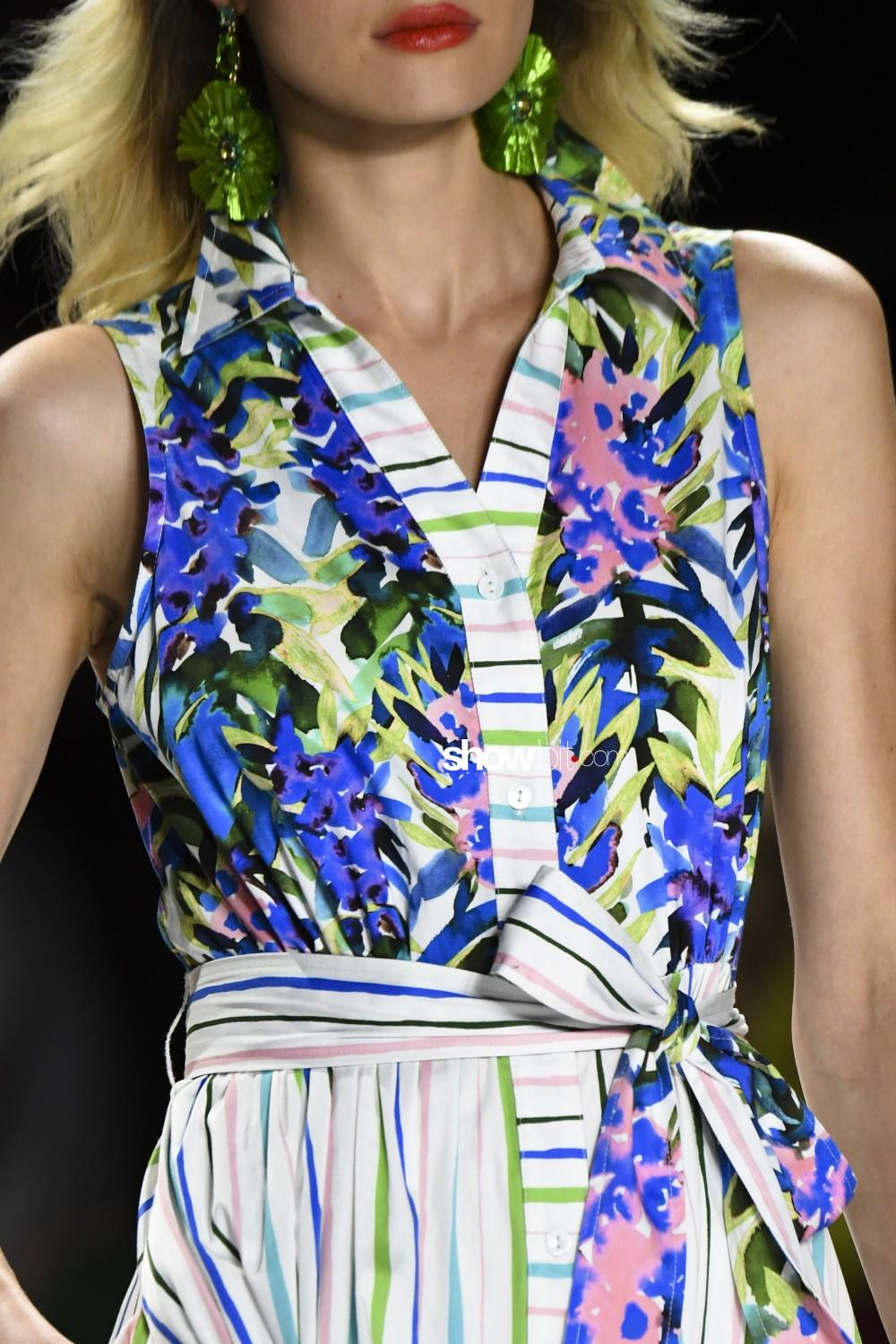 Badgley Mischka close-up Women Spring Summer 2020 New York prints