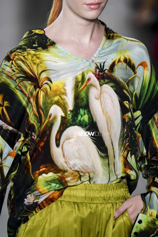 Kyle and Shahida close-up Women Spring Summer 2020 New York prints