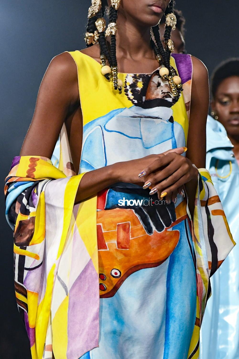Pyer Moss close-up Women Men Spring Summer 2020 New York prints