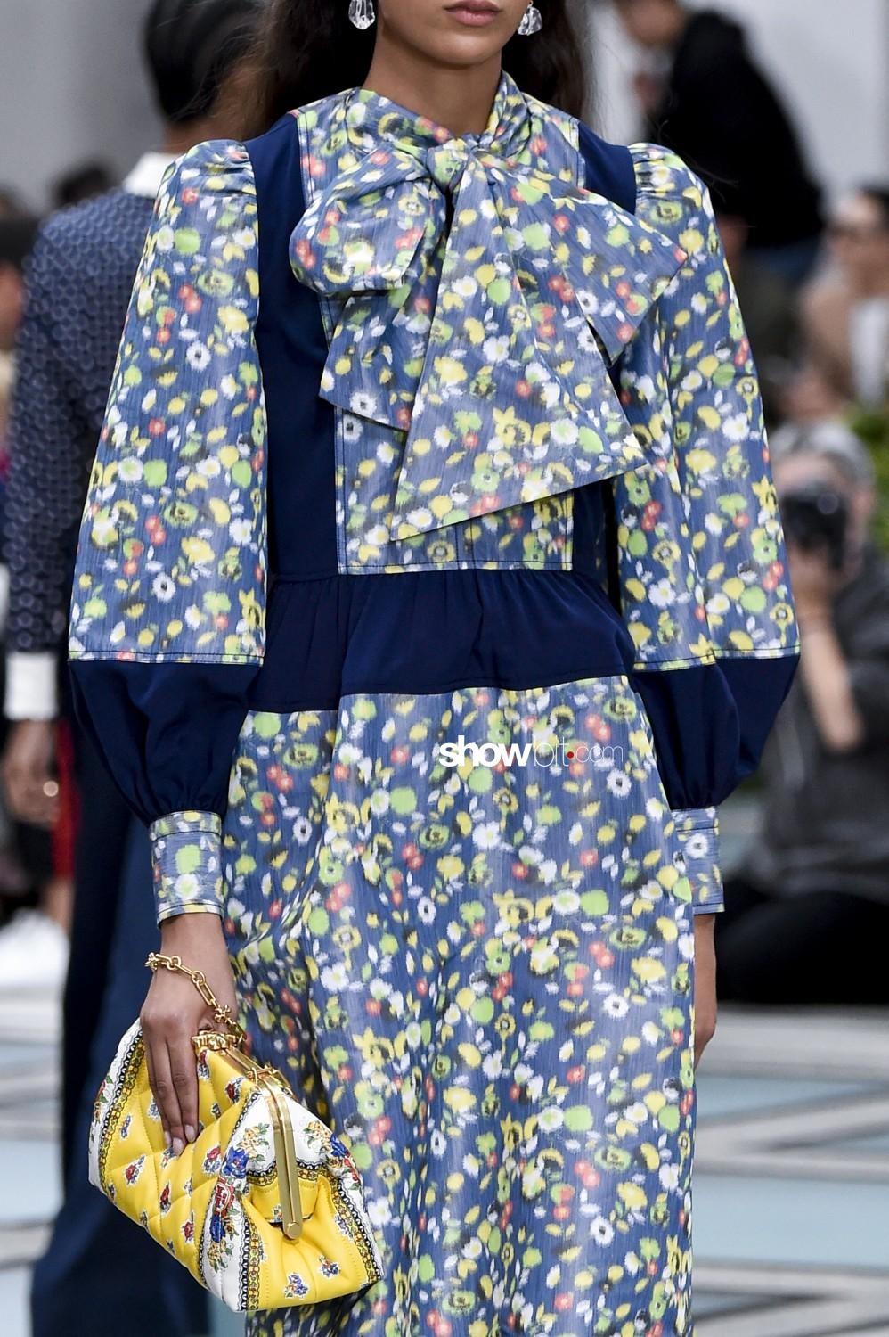 Tory Burch close-up Women Spring Summer 2020 New York prints