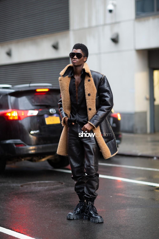 Dion Lee people street style Women Fall Winter 2020 New York
