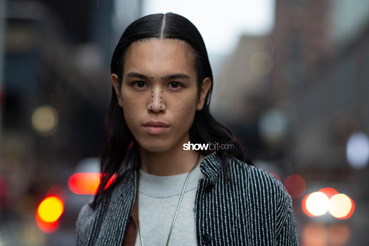 Dion Lee people street style Women Fall Winter 2020 New York