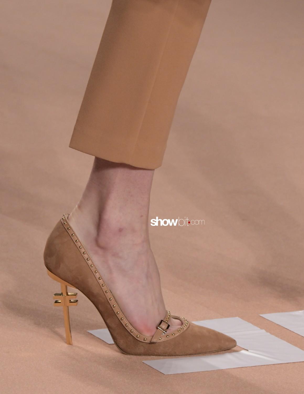 Elisabetta Franchi close-up Women Fall Winter 2020 Milano shoes